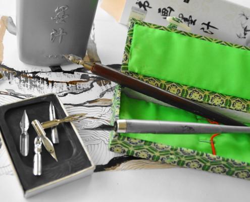 expo chunyu, plume et encre de Chine